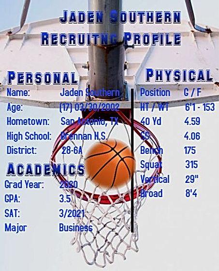 Southern, Jaden basketball profile pic.J