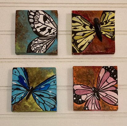 Butterfly mini canvases