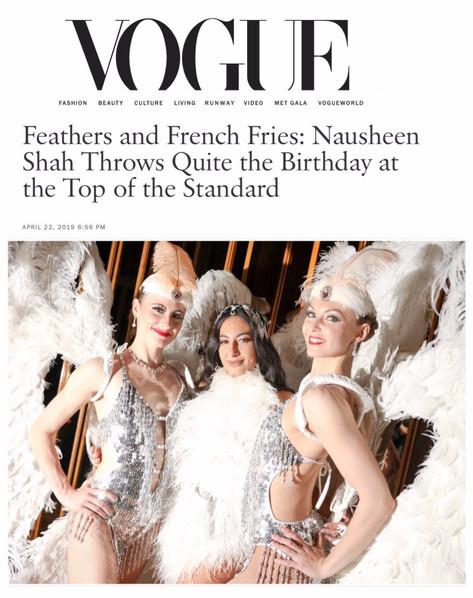 VOGUE FEATURING NAUSHEEN SHAH'S GOLDEN BIRTHDAY