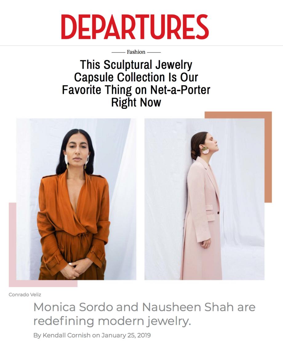 Nausheen Shah x Monica Sordo featured in Departures Magazine