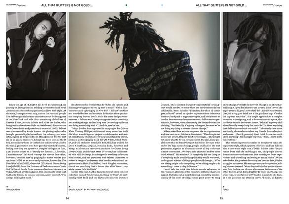 Lukas Sabbat Glass Magazine Cover