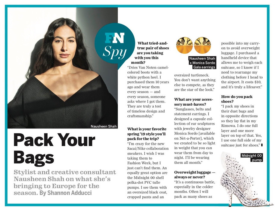 Footwear News February 2019 featuring NSxMS