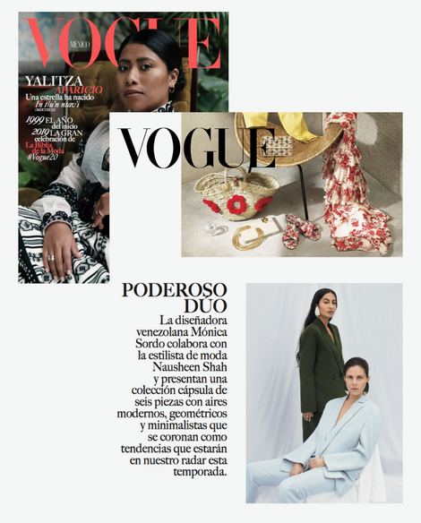 Vogue Mexico January 2019 featuring NSxMS