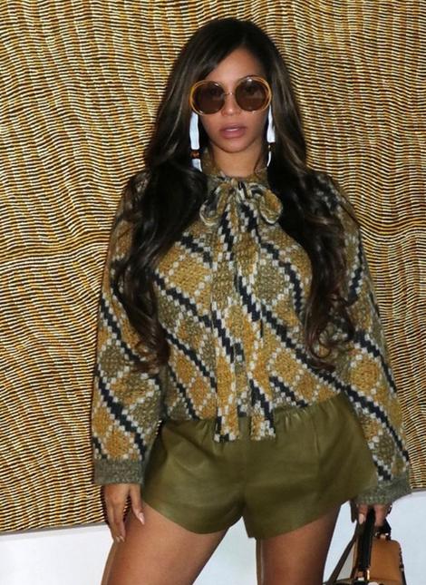 Beyonce wearing NSxMS EarSculptures