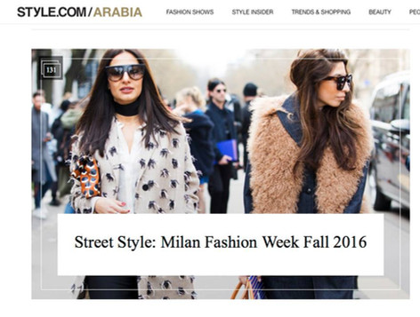 Style.com/Arabia - Street Style: Milan Fashion Week Fall 2016