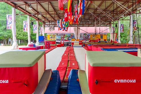 Installation de camp de gymnastique Camp de vancaces GymRep Camps Rep