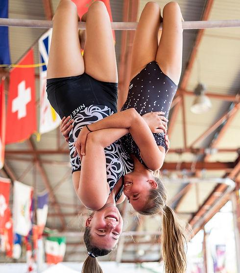 Camp de vacances Gymnastique GymRep Gymnaste en action Quebec Canada
