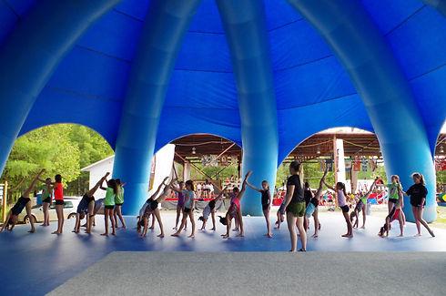 Installation Pieuvre Camp de vacances danse DanseRep Camps Rep