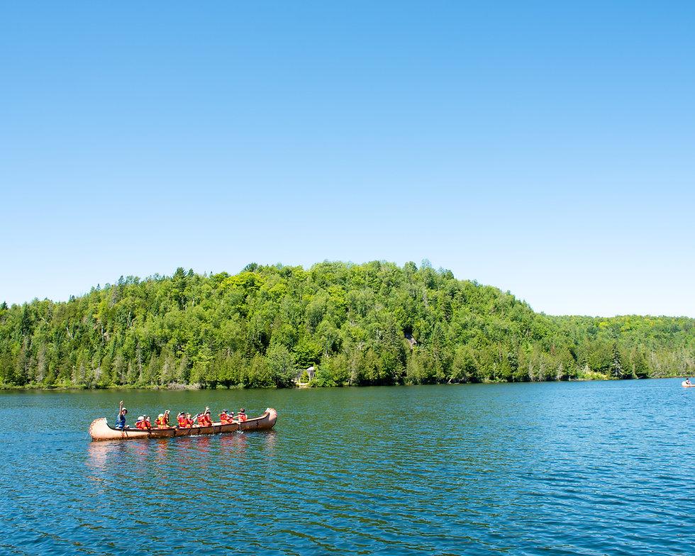 Activité extérieur Canot  Camp de vacances Camps Rep