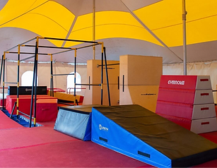 Camp de vacances gymnastique cheerleading parkour danse GymRep CheerRep ParkourRep DanseRep