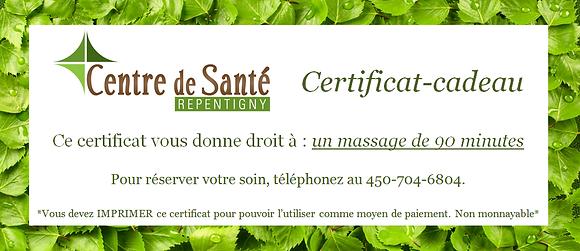 Massage 90 minutes