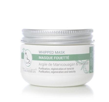 Masque fouetté purifiant pour le visage - Argile et Lavande