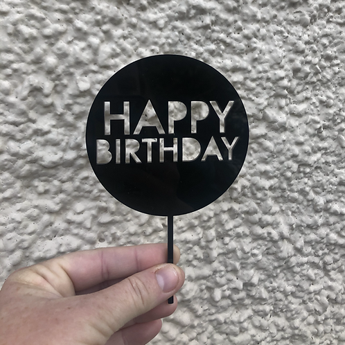 Mini Cake Topper - Happy Birthday
