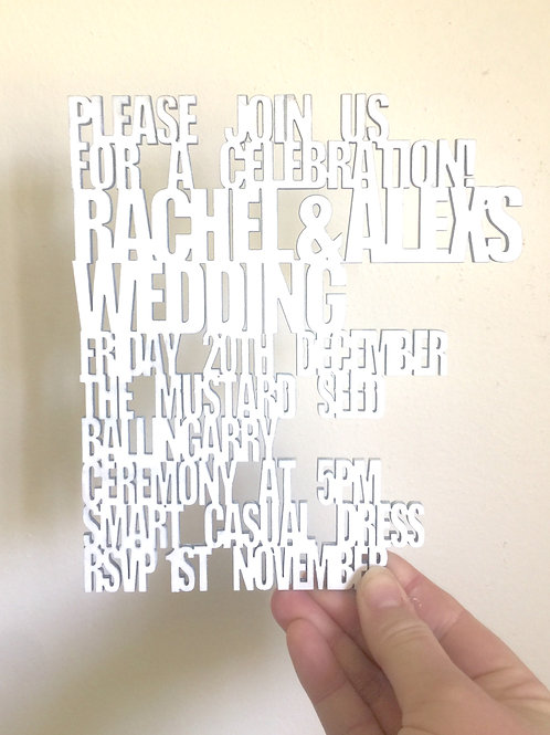 Timber Invitation - Text Outline