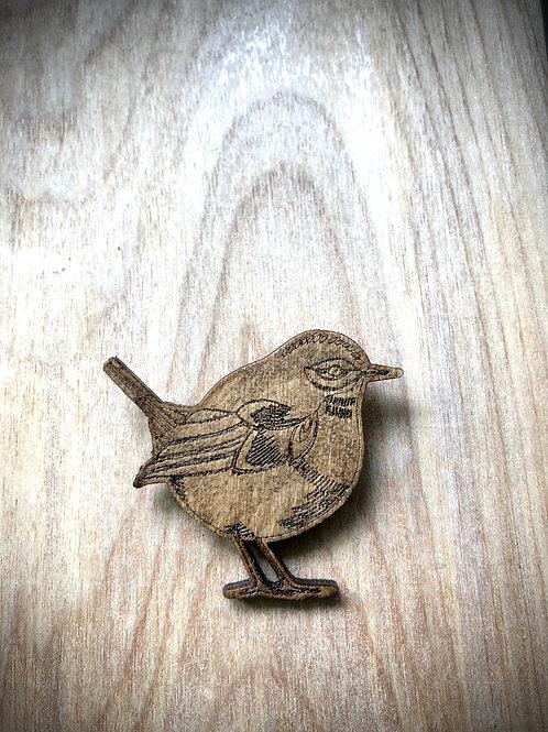 Wren Brooch Pin
