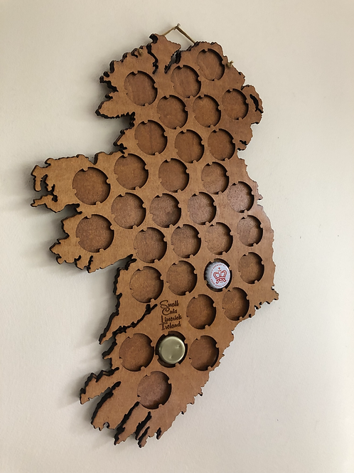 Beer Cap Map of Ireland