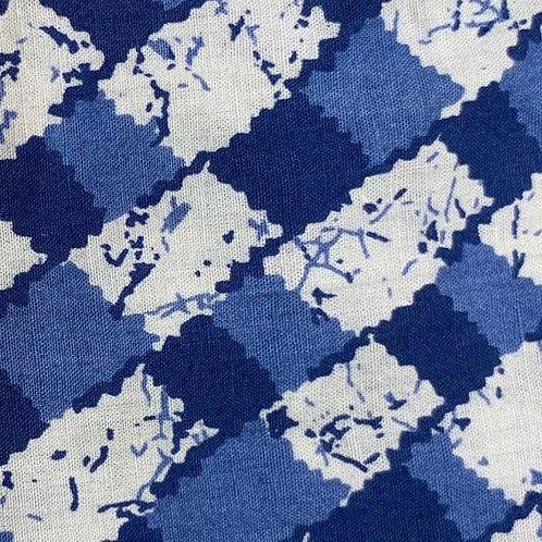 Blue & White Checkered Palazzo Pants