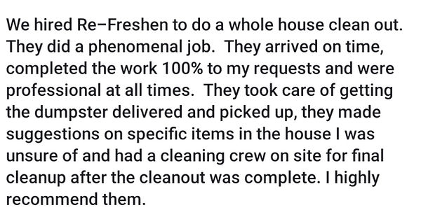 Re-Freshen Hoarder Cleanup