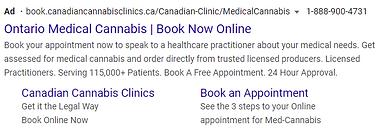 Sample Cannabis Google Ads