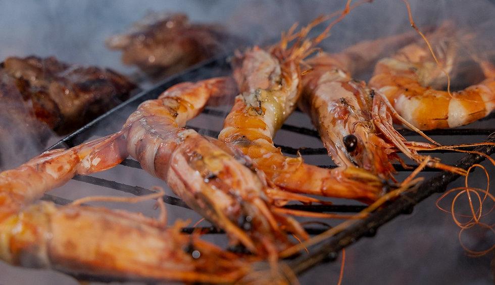 Shrimp on barbeque