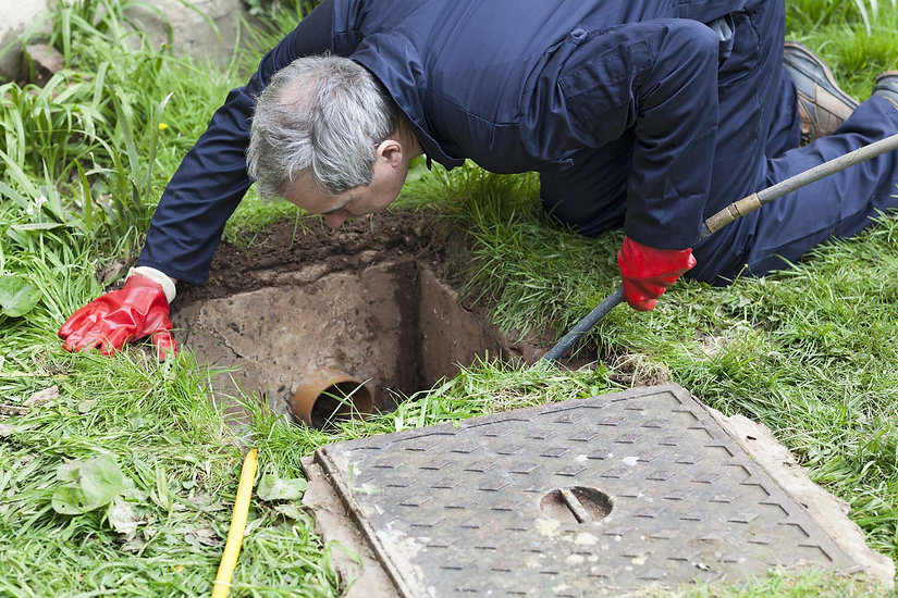 Drain being cleaned by engineers