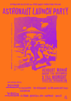 Astronaut Launch Party Poster