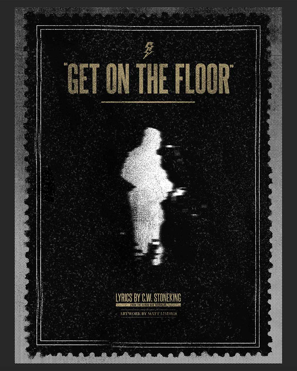 GET ON THE FLOOR in large text above a white figure in the centre.