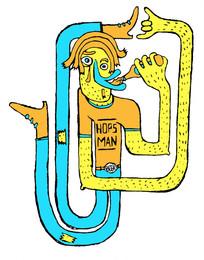 Hops Man T-shirt Illustration