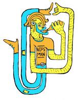 Hops Man Illustration