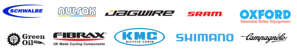 Bicycle Components we use in our bike repairs