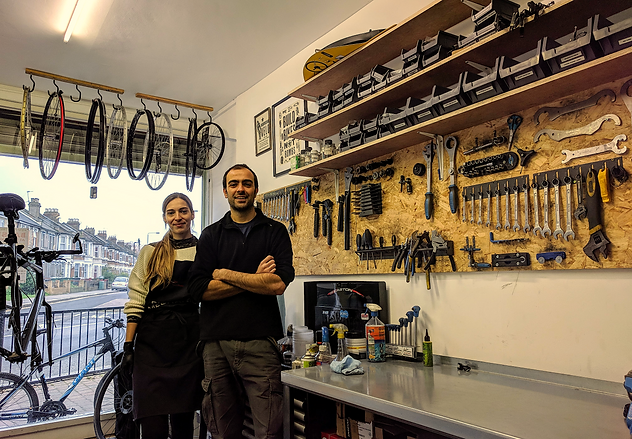 The team in our workshop in Leytonstone