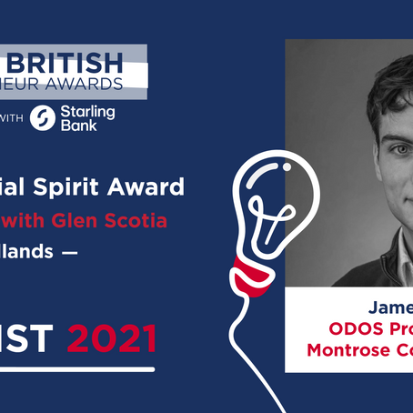 Founder of ODOS named as a finalist for The Great British Entrepreneur Awards!