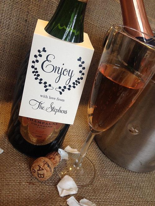 12 Personalised Wine/Bottle tags