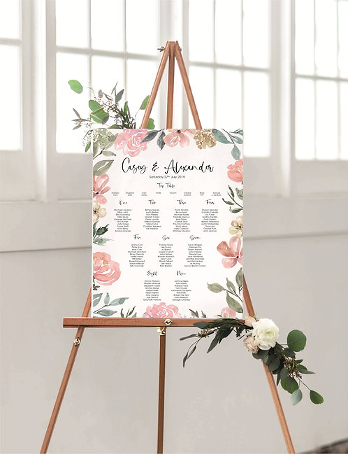 Casey A2 Wedding Seating/Table plan