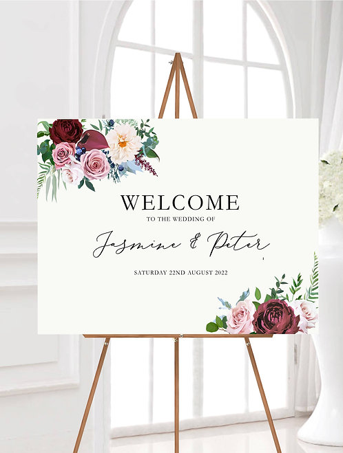 Landscape Jasmine A1 Wedding Welcome Sign