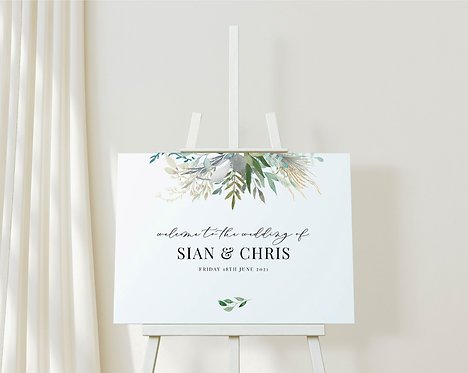 Landscape Sian A1 Wedding Welcome Sign