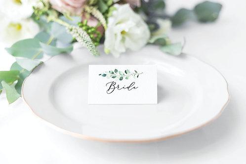 10 x 'Carey' personalised Wedding name place settings
