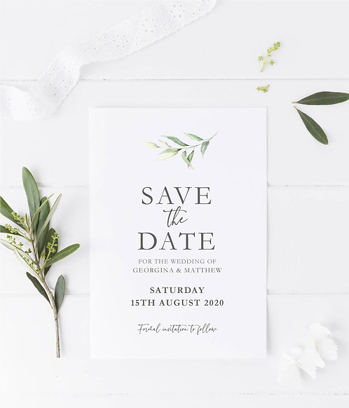 Botanical, Georgina Save The Date Sample