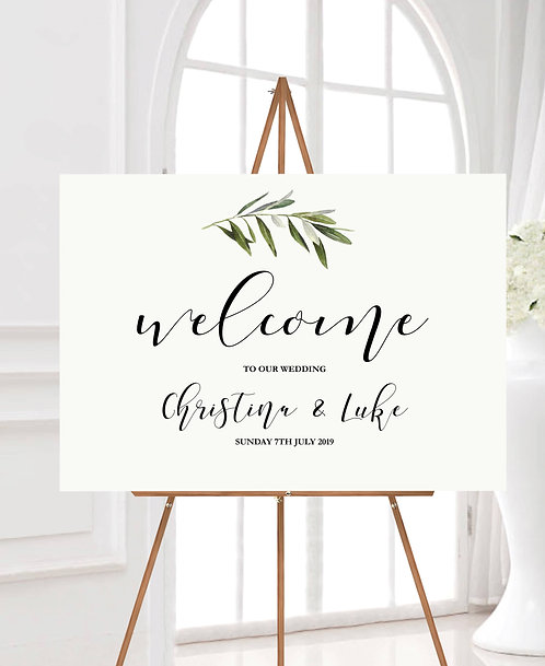 Landscape Christina A1 Wedding Welcome Sign