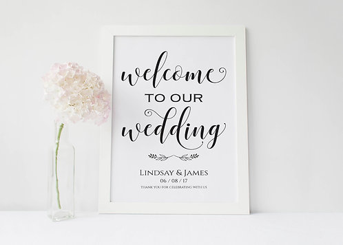 A3 Lindsay portrait Welcome sign