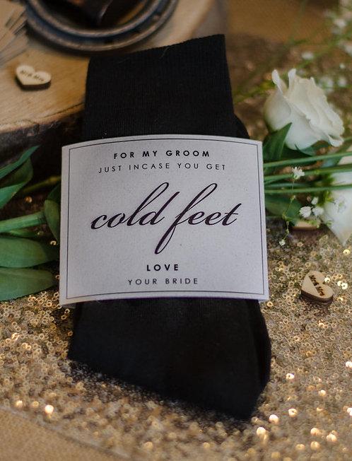 Incase of 'Cold Feet' Groom Socks