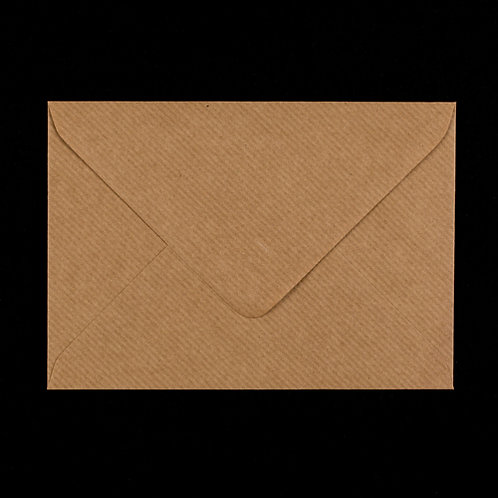 10 x C6 Kraft Brown Ribbed Envelope