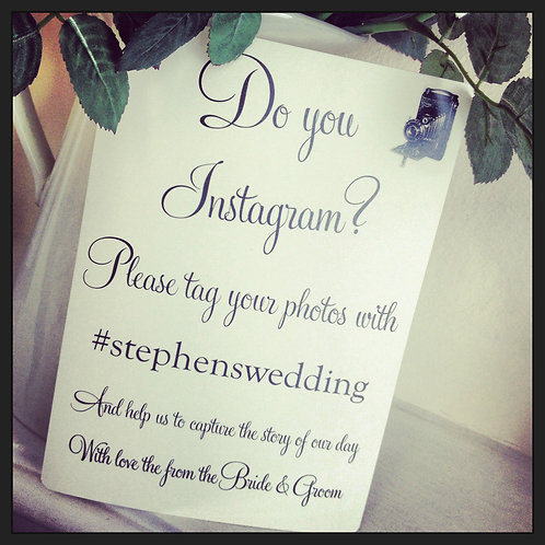 A5 Wedding Camera 'Instagram' poster/sign