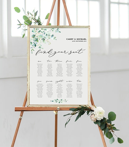 Carey A1 Wedding Seating/Table plan