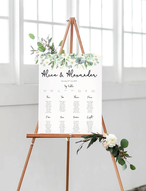 Alice A1 Wedding Seating/Table plan