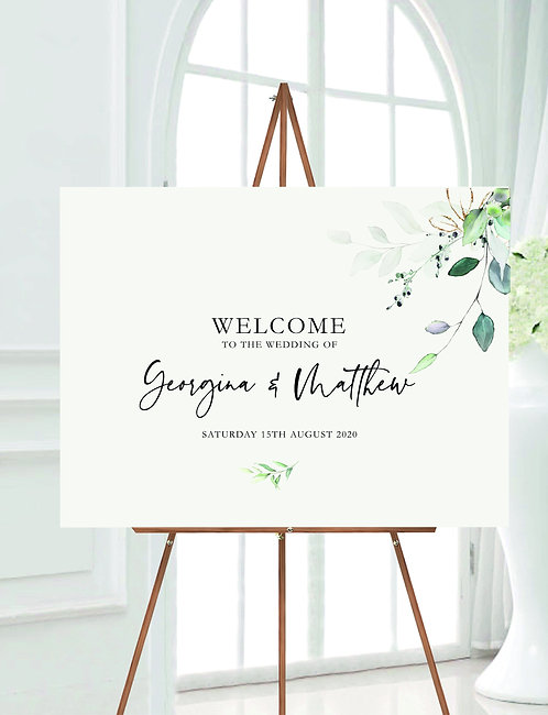Landscape A2 Georgina Wedding Welcome Sign