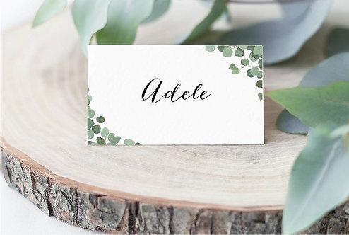 10 x 'Adele' personalised Wedding name place settings