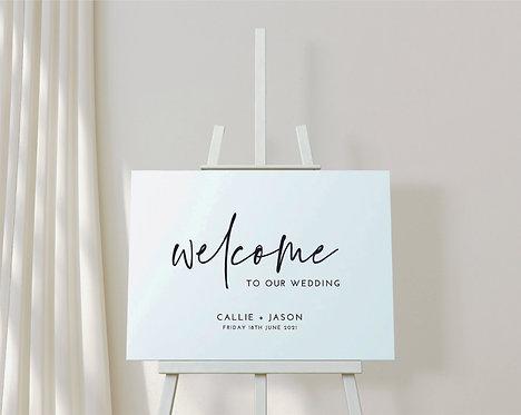 Landscape A2 Callie Wedding Welcome Sign