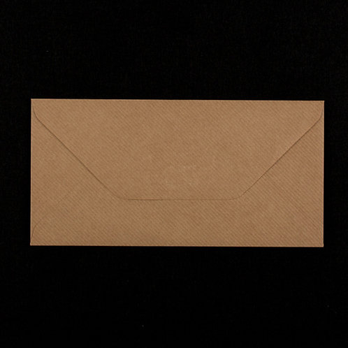 10 x DL Kraft Brown Ribbed Envelope