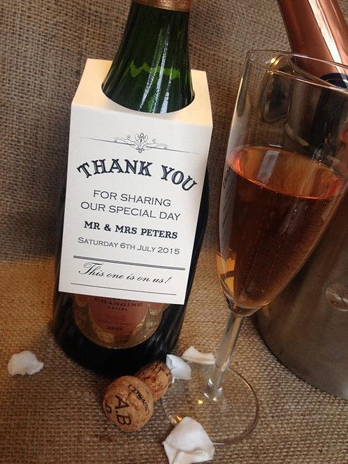 12 Personalised Wedding Wine/Bottle tags